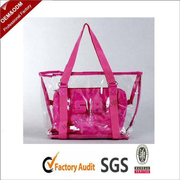 transparent pvc clear handbag