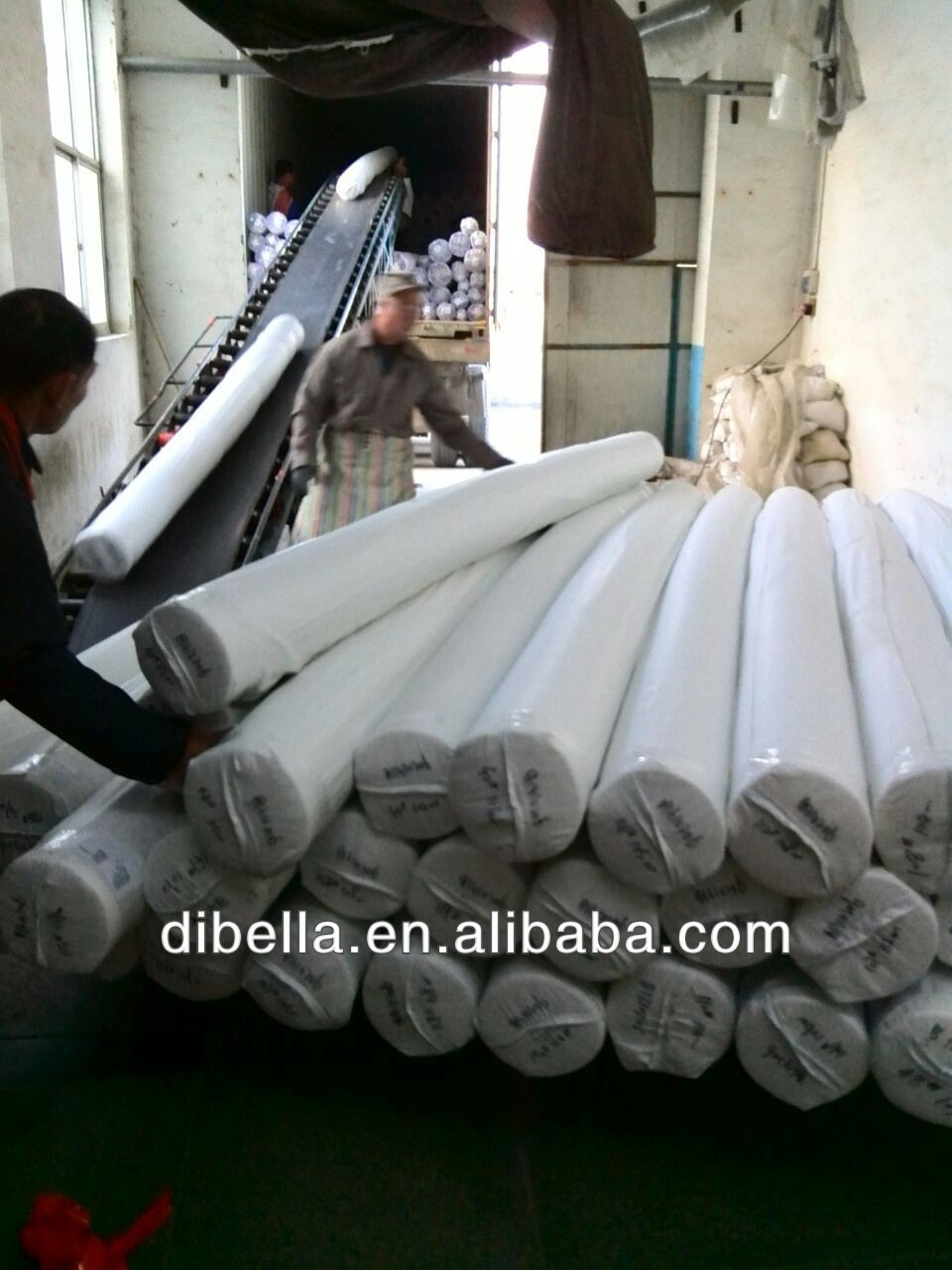 Wuxi dibella stripe bedding sheets of combed yarn airjet woven bedding fabric
