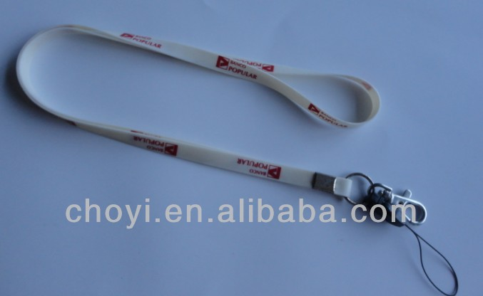New design wholesale custom silicone lanyard as promotional gift