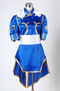 Street Fighter Chun Li ChunLi Blue Dress Cosplay Costume