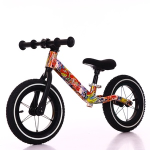 New popular 12 inch solid rubber tires lightweight pushing balance bicycle