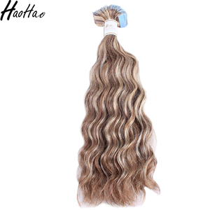 Wholesale grade 9a high quality tape virgin hair extension