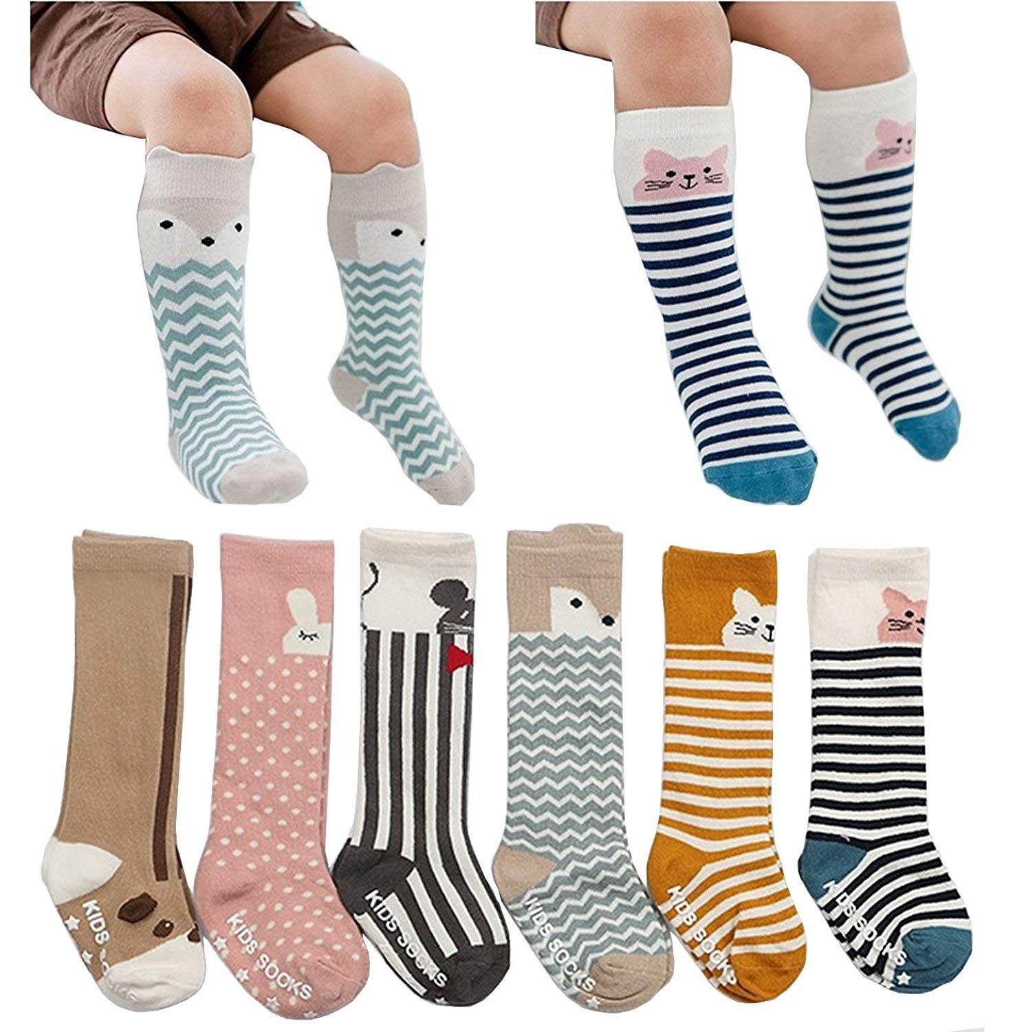 0c16cbe9c Get Quotations · 6 Pairs Toddler Socks