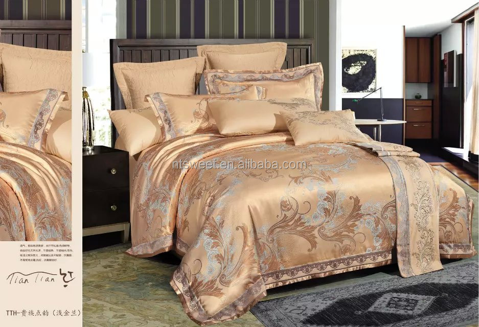Decorator Upholstery High Quality Jacquard Motif Fabric Bedroom Comforter Set & Pillows Ensemble, Queen, Teal