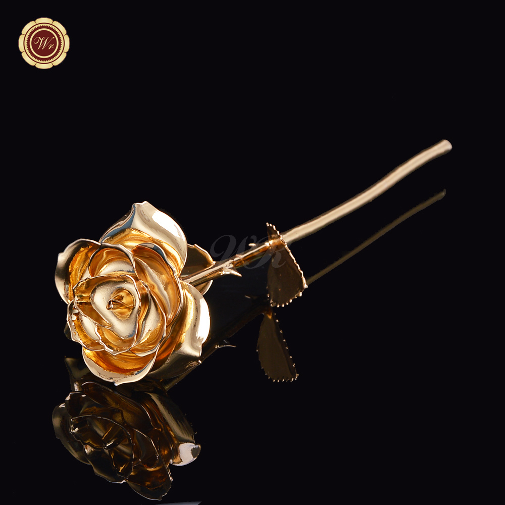 WR 2016 Wedding Decoration Beautiful 24 K Gold Rose Real Rose Flowers <strong>Arts</strong> And Crafts Decor For Women Birthday Gift