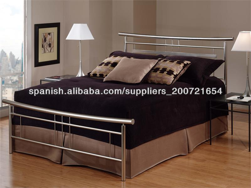 muebles de dormitorio plata hierro cama de matrimonio con listones ...