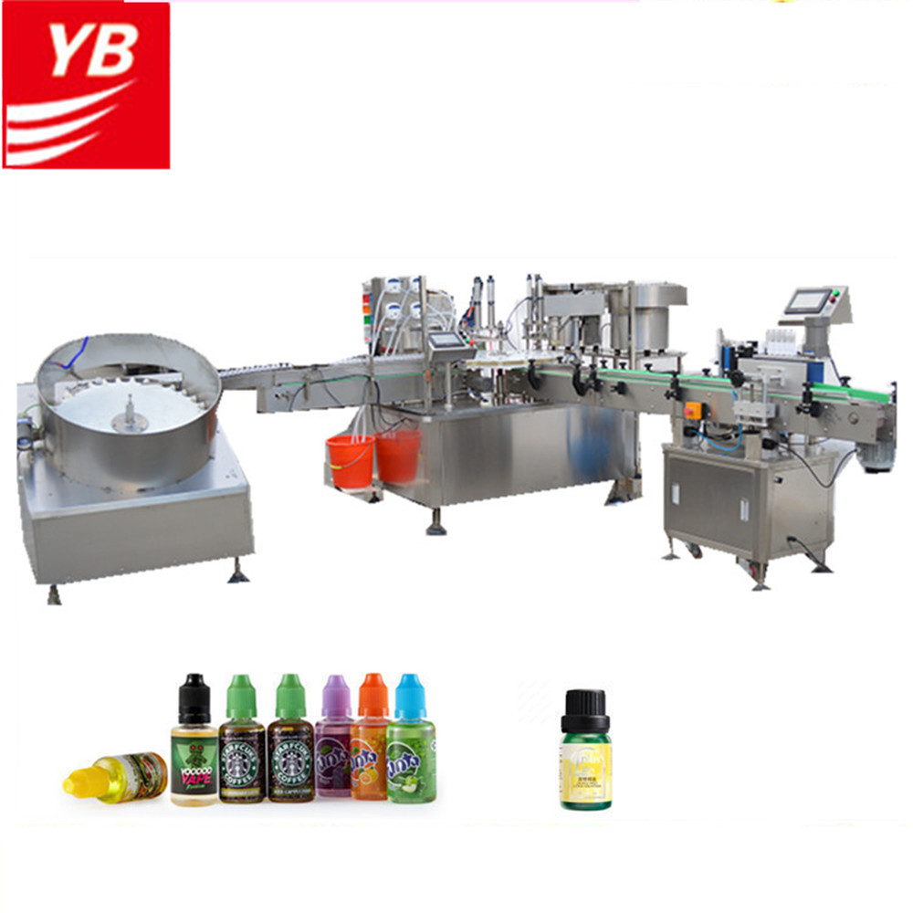 Automatic 10ml 50ml 100ml 120ml vape ejuice eliquid bottle filling machine ecig oil filler capper sealer labeler machinery