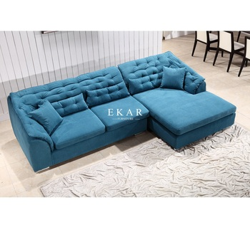 Turkey Pine Wood Best Quality Blue Couch Extra Large Fabric L Sleeper Sofa Bed