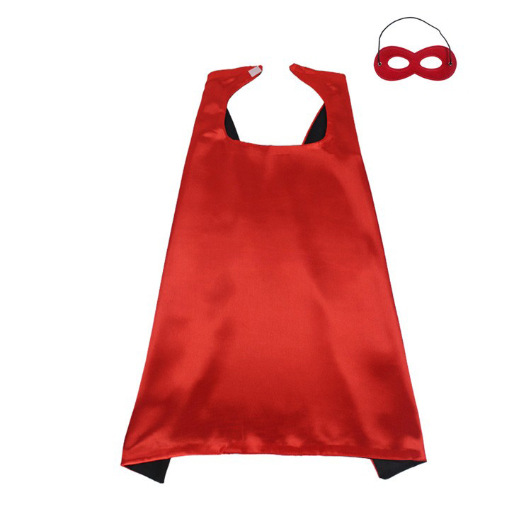 Wholesale <strong>Kids</strong> Polyester satin Halloween birthday custom <strong>Superhero</strong> <strong>Cape</strong> and Mask