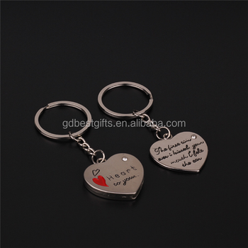 2e337b4705 Heart Shape Couple Gifts Personalized Key Chains For Lover - Buy ...