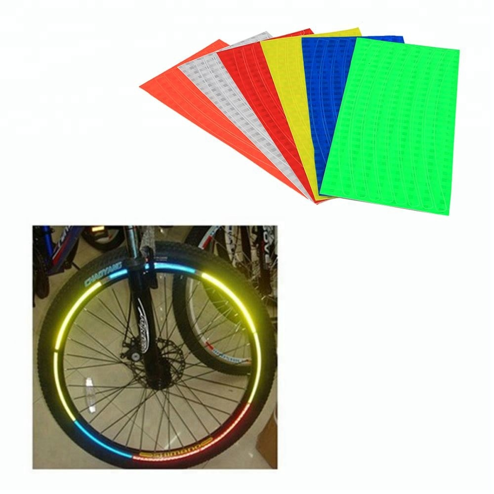 Colorful bicycle bike wheel rim reflective tape stickers