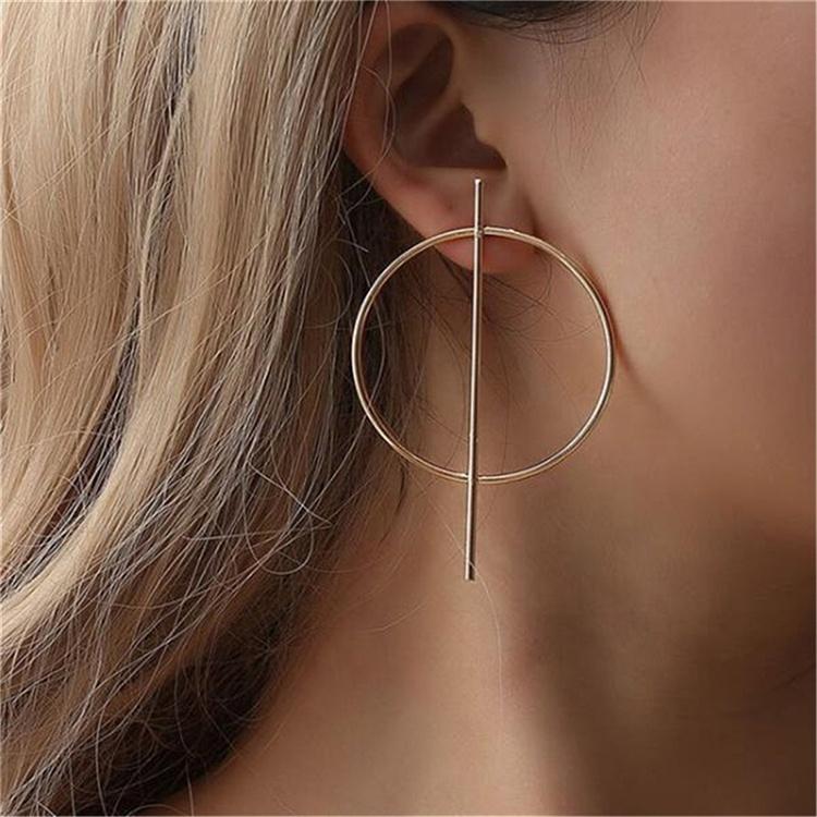 New exaggerated silver gold big hoop earrings circle huggie earrings