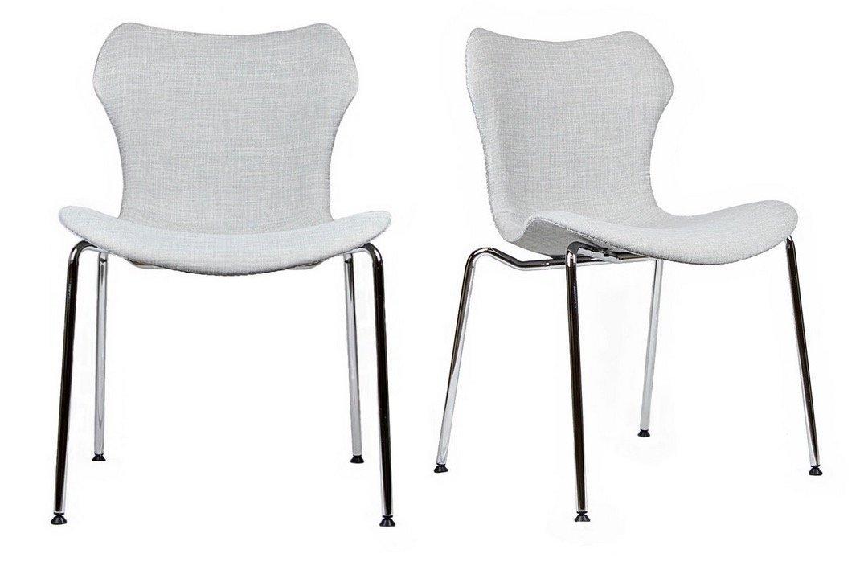 Gramercy Mid Century Modern Dining Chairs (SET OF 2) (Light Grey)
