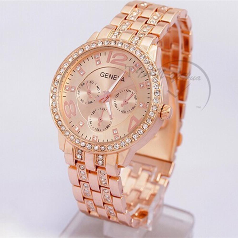 Geneva-mk-Rose-Gold-Rhinestone-Quartz-Watch-Women-Clock
