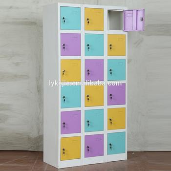 Nursery School Cabinet Design 18 Doors Lockers Changing Room Used Metal  Multi Doors Locker