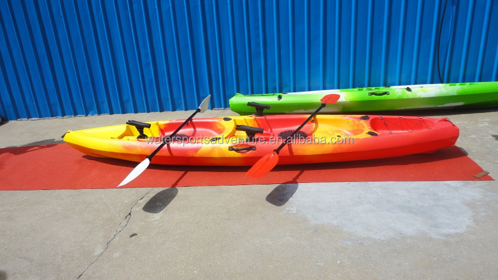 3.9M double seat sit-on-top china manufacturer cheap plastic kayak