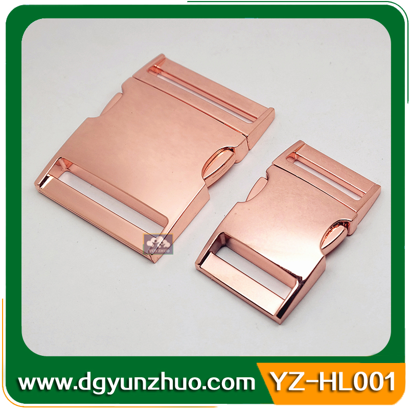 40mm Gold metal side release buckle for bag, quick side release buckles