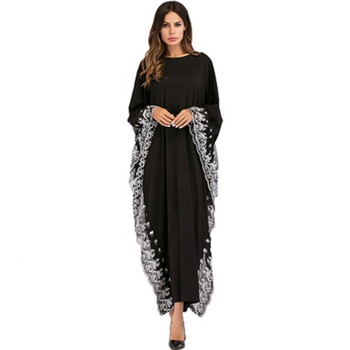 European and American explosions are fashionable and comfortable islamic women black new model abaya in dubai turquie