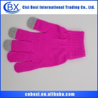 China wholesale high evaluation Christmas gift acrylic glove,outdoor sport windproof touch screen fleece gloves winter gloves