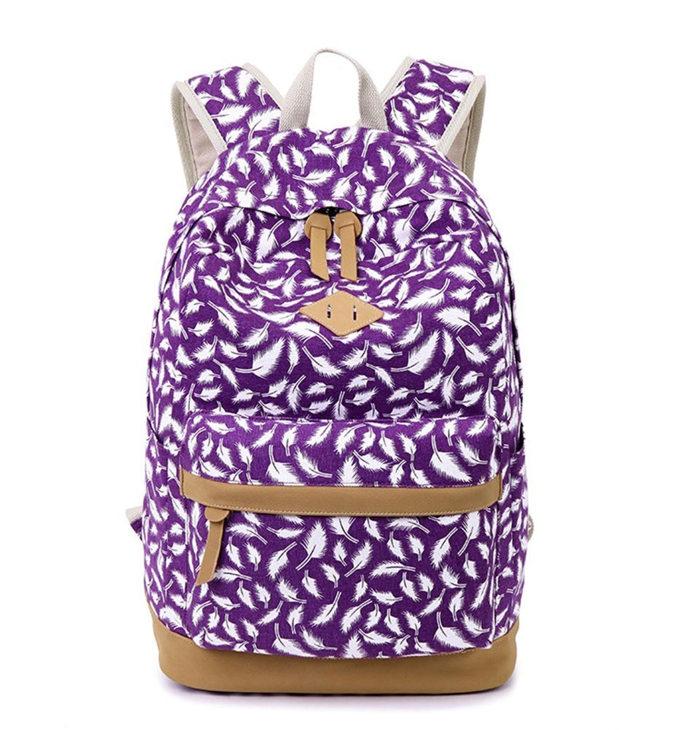 Get Quotations · Parahen Canvas School Bags Laptop College Backpack for Girls  Teens Bookbag 23dc7d9be5