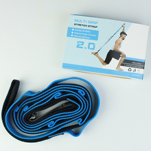 Stretch <span class=keywords><strong>Bands</strong></span> Yoga Sport Oefening Band Stretching Strap met Loops, Groothandel Yoga Band voor Stretching Voor Fitness Oefening