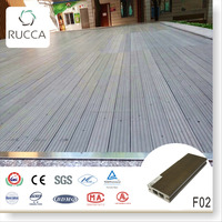 2016 White antiseptic wood plastic composite decking covering 70*25mm home garden depot Goods from China materials supplier