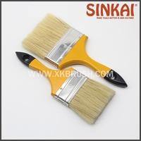 cheap wooden handle Natural pig bristle paint brush