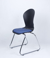 cheap plastic stacking journalist padded chair used in office