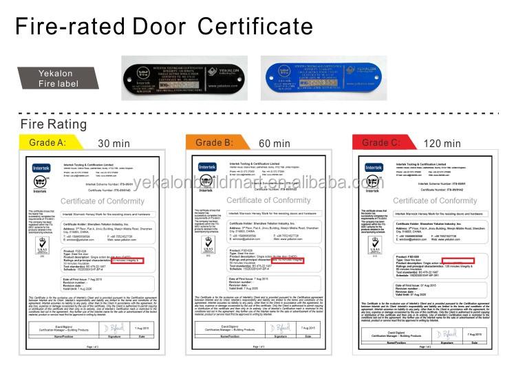 Yekalon Certification Hotel Apartment Security Steel 2