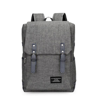 HAOQI Fashion Men's Backpack Water-resistant Travel Backpack Rechargeable USB Back Pack Anti theft Backpack for Teens