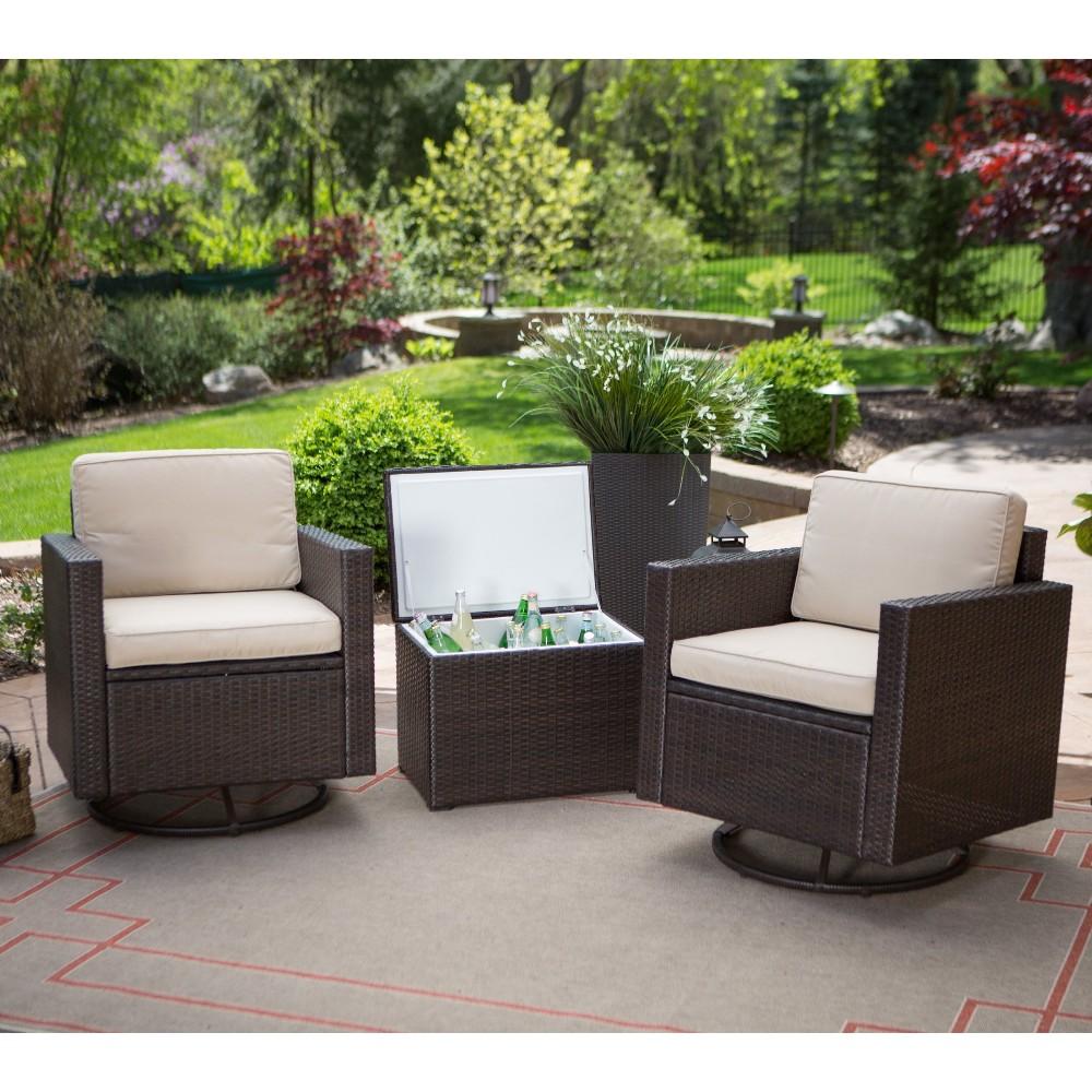 Giratorio Barato Mimbre Muebles De Terraza Con Sillones Y Cubo De  # Muebles Mimbre Baratos