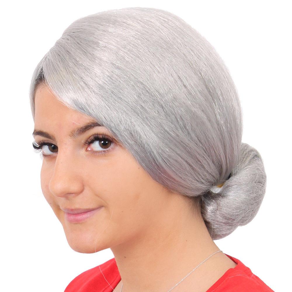 Adult Granny Wig Grey Afro Old Lady Perm Grandma Fancy Dress Costume Accessory