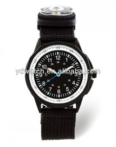 Sport Nylon watch with compass