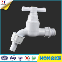 White Color Plastic Bathroom&Garden PVC Faucet Water Taps With Nozzle