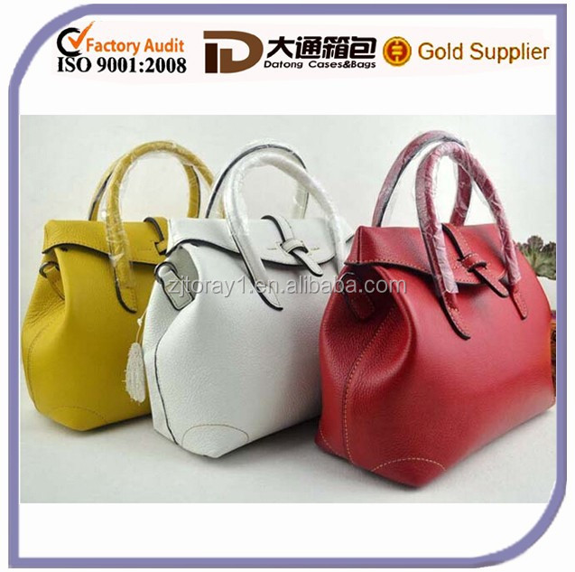 2015m Best Selling Woman High Quality Genuine Leather Handbag Ladies Real Leather Shoulder Korean Style Tote Fashion Bag