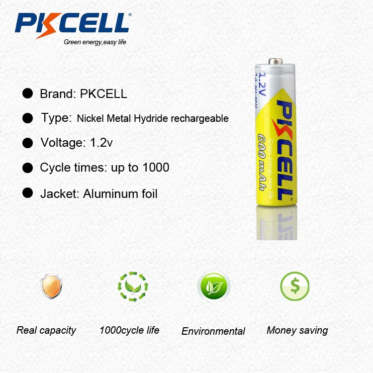 Cheap Price Hot Selling 1.2v Ni-Mh AA AAA Rechargeable Battery 600mah
