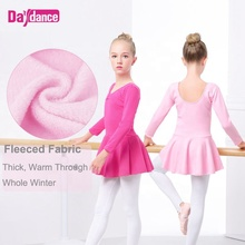 Winter Dicke Samt <span class=keywords><strong>Ballett</strong></span> <span class=keywords><strong>Kleid</strong></span> Warm Up Für Mädchen
