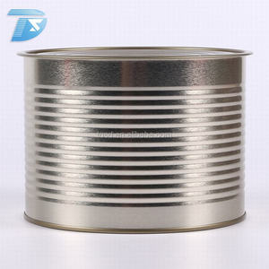 food storage can seal easy open custom print condensed milk food grade tin can with lid