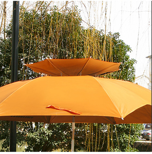 Outdoor double layer ventilated sunshade fishing umbrella for garden