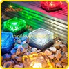 color changing frosted glass solar led ice brick ground light for garden yard patio