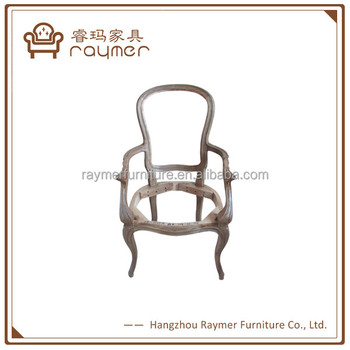 Unfinished Solid Oak Wood Dining Chair Frame - Buy Unfinished Dining ...
