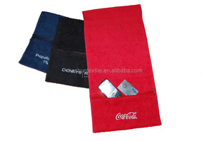 Low price small MOQ 100%cotton custom logo embroidered or printed gym towel