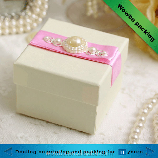 2016 Fashion colorful handmade jewllery pearl paper boxes wholesale