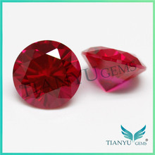 Free Sample 8mm Round 8# Rose Red Synthetic Ruby