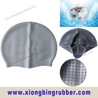 CE standard 100% silicone bubble adult dome swim cap
