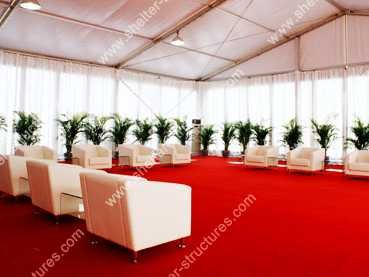 Second hand big event tent with amazing wedding decoration for sale