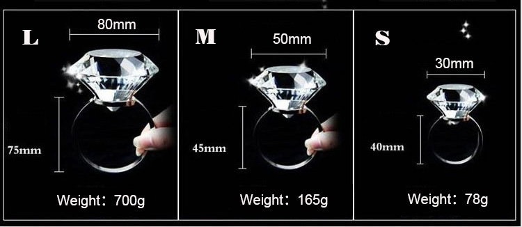 Wholesale custom crystal diamond for wedding cenpiece glass diamond