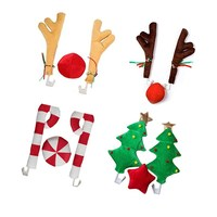 Christmas Reindeer Antlers Car Decoration Vehicle Costume Window Decoration Holiday Ornament Christmas Car Decoration