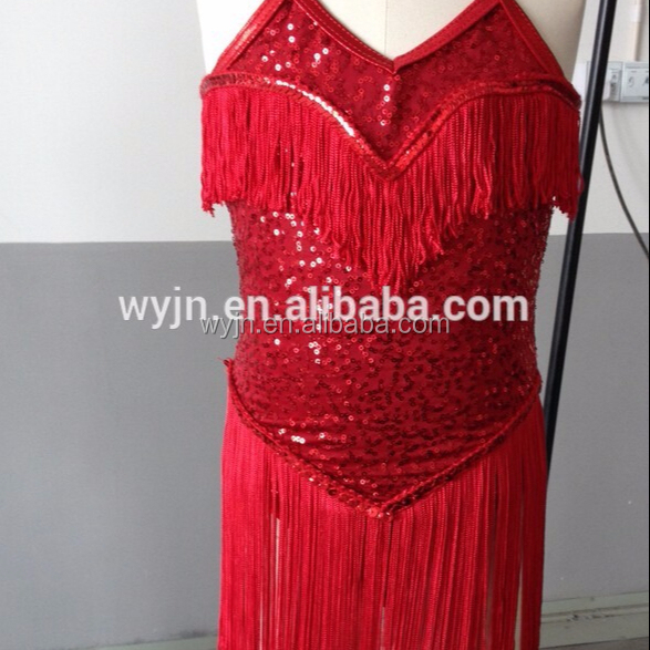 OEM Service Supply Type and Latin Dancing Performance Wear-chinese red kids latin dresses
