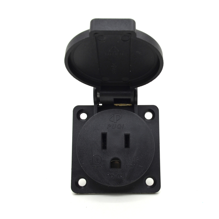 Best selling ul IP54 amerikaanse 110 v waterdichte socket met cover pop up bakje